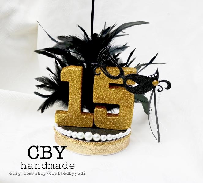 Masquerade Quinceañera Cake Topper2