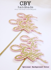 Two Toned Script Floral Picks2